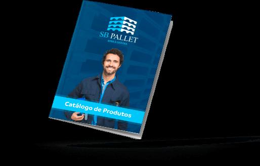Representação tridimensional do catálogo de produtos SB Pallet