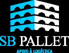 Logotipo SB Pallet em branco e azul claro
