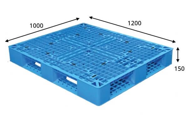 Pallet de Plástico SB 22 Azul Medidas