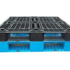 Pallet de Plástico SB 20 Preto e Azul