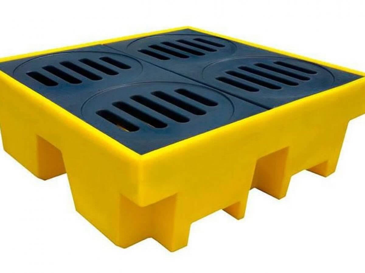 Tipos de pallets de contenção